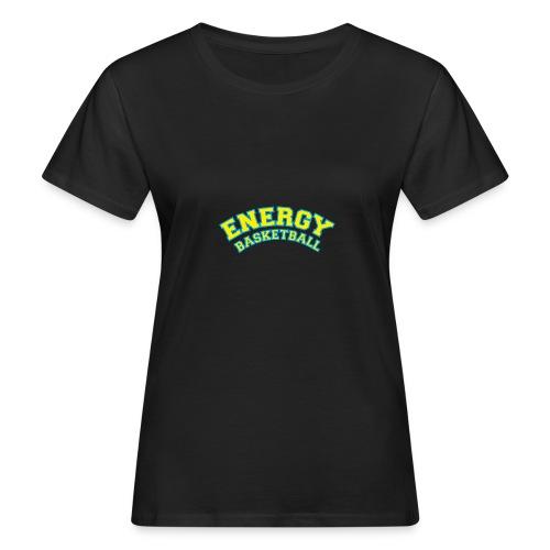 street wear logo giallo energy basketball - T-shirt ecologica da donna