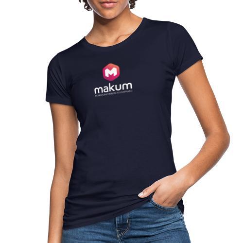 MAKUM Logo ja teksti - Naisten luonnonmukainen t-paita