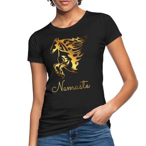 Namaste Horse On Fire - Frauen Bio-T-Shirt