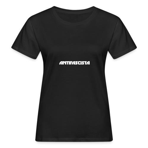 Antifascista vit - Ekologisk T-shirt dam