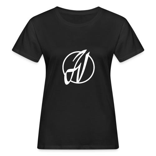 JV Guitars - logo blanc - T-shirt bio Femme