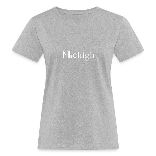 Milehigh Rags Logo White - Økologisk T-skjorte for kvinner