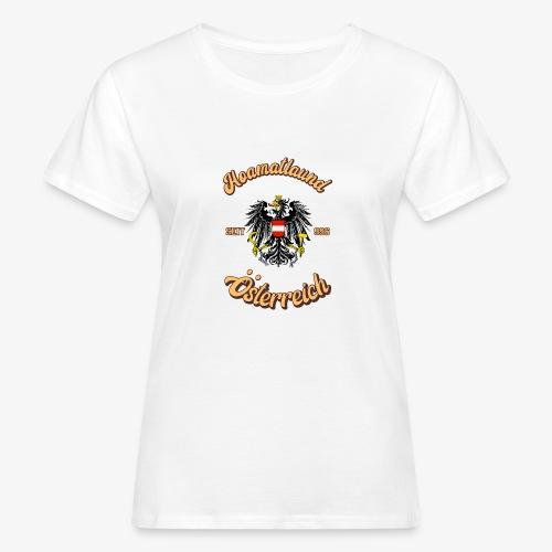 Österreich hoamatlaund retro desígn - Frauen Bio-T-Shirt