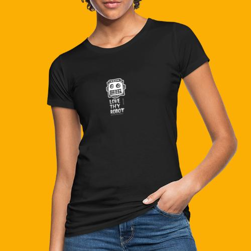 Dat Robot: Support this cute face - Vrouwen Bio-T-shirt