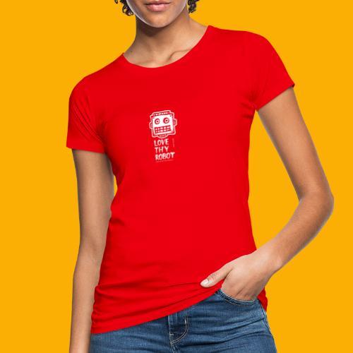 Dat Robot: Support this cute face - Vrouwen Bio-T-shirt