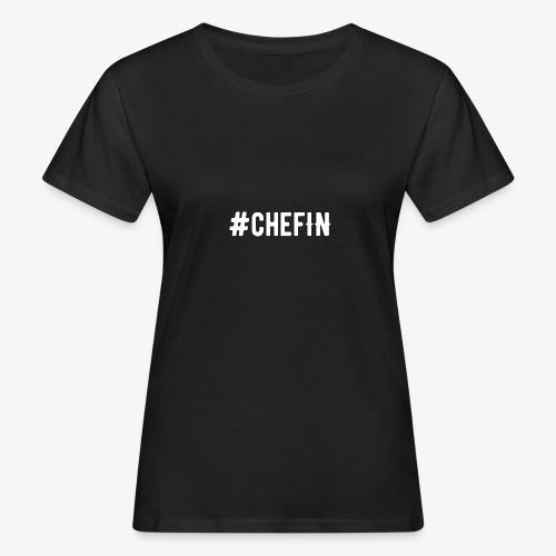 Hashtagchefin 2.0. weiß - Frauen Bio-T-Shirt