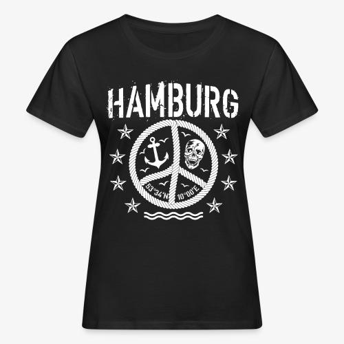 105 Hamburg Peace Anker Seil Koordinaten - Frauen Bio-T-Shirt