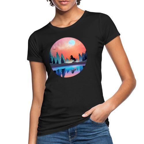 Waldsee Pferd - Frauen Bio-T-Shirt