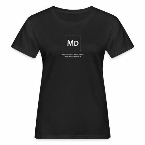 MD Logo - weiß - Frauen Bio-T-Shirt
