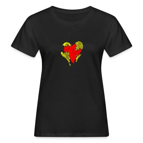 peeled heart (I saw) - Women's Organic T-Shirt