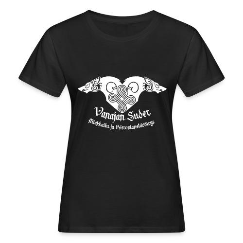 Vanajan Sudet Logo (valkoinen) - Naisten luonnonmukainen t-paita