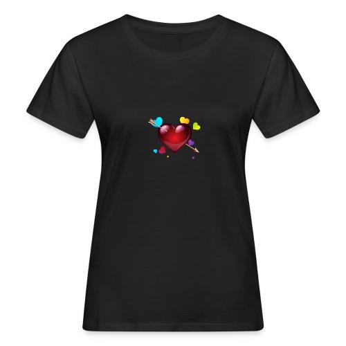 coeurs coloré - T-shirt bio Femme