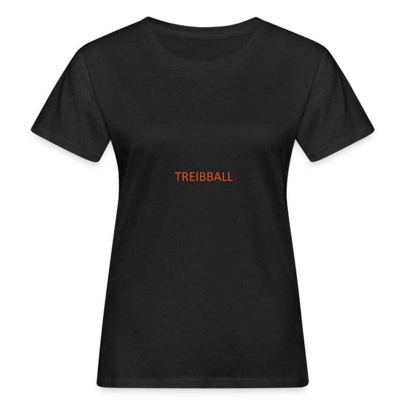 Treibball-Schlüsselband mit orangem Schriftzug - Frauen Bio-T-Shirt