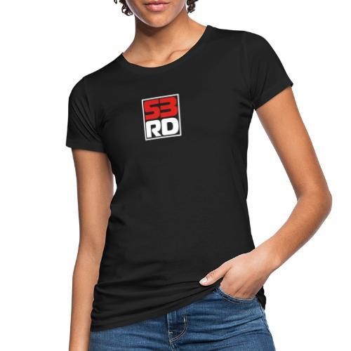 53RD Logo kompakt umrandet (weiss-rot) - Frauen Bio-T-Shirt
