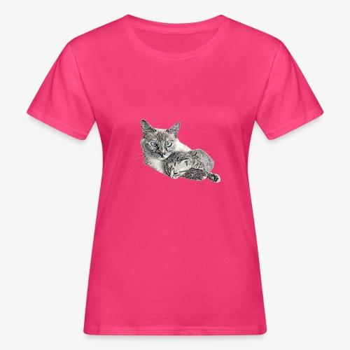 Snow and her baby - Women's Organic T-Shirt