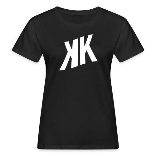 zweifach bedruckt!! KK_Logo_white + KK_URL_white - Frauen Bio-T-Shirt