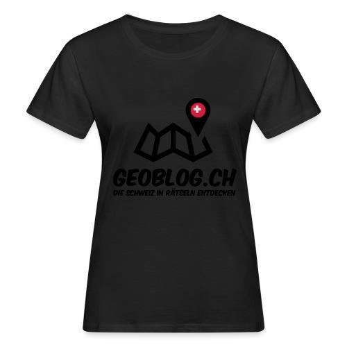 Logo+Schriftzug-hoch - Frauen Bio-T-Shirt