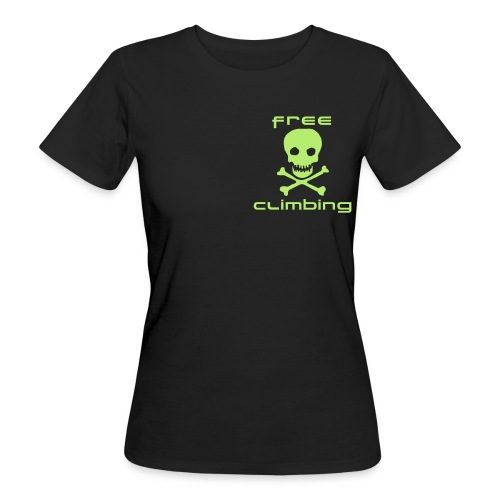 Free climbing tête de mort - T-shirt bio Femme