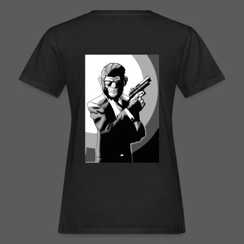 Affe Mit Waffe - Frauen Bio-T-Shirt