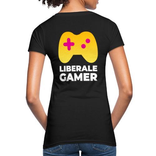 Liberale Gamer Logo - Frauen Bio-T-Shirt