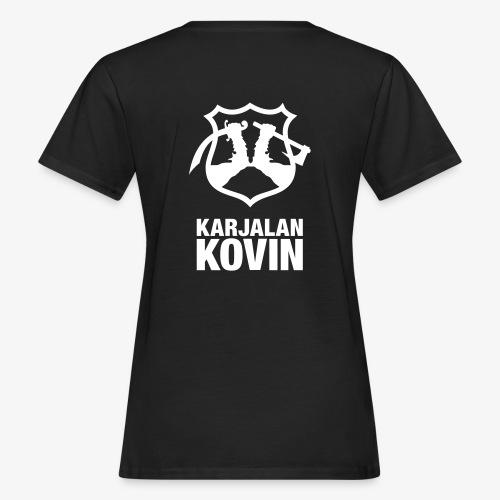 karjalan kovin logo pysty cmyk - Naisten luonnonmukainen t-paita