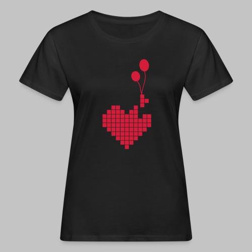 heart and balloons - Women's Organic T-Shirt