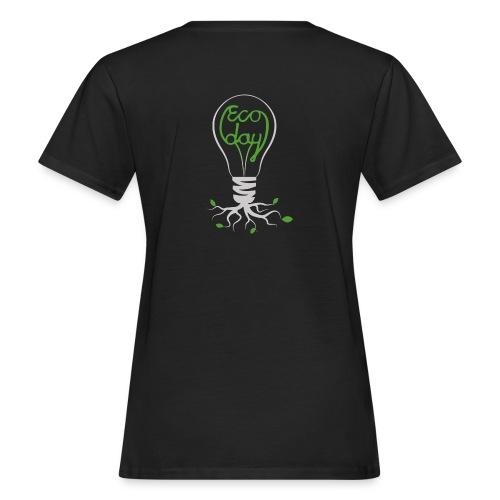 Logotyp Ecoday genomskinlig för mörk bakgrund png - Ekologisk T-shirt dam