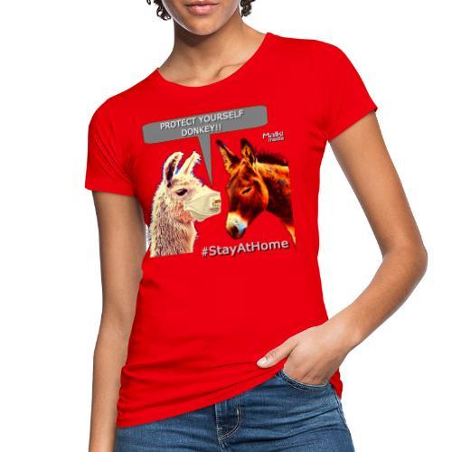 Protect Yourself Donkey - Coronavirus - Women's Organic T-Shirt