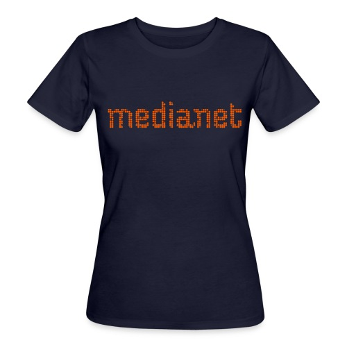 medianet logo orange - Frauen Bio-T-Shirt