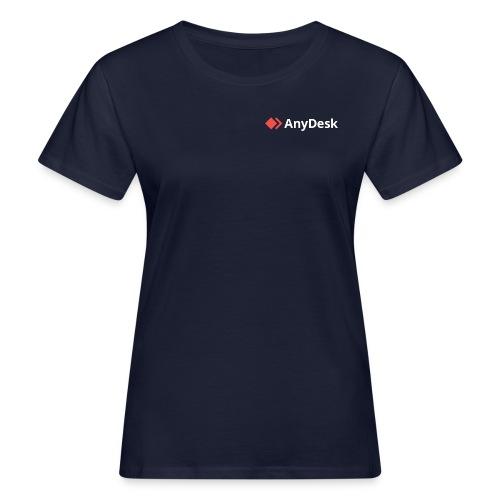AnyDesk - logo white - Frauen Bio-T-Shirt