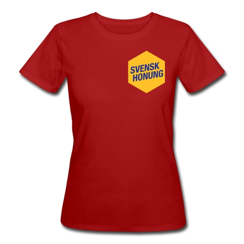 Svensk honung Hexagon Gul/Blå - Ekologisk T-shirt dam