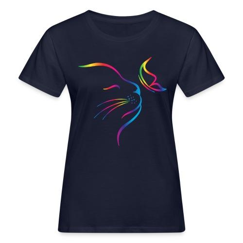 Vorschau: rainbow butterfly cat - Frauen Bio-T-Shirt