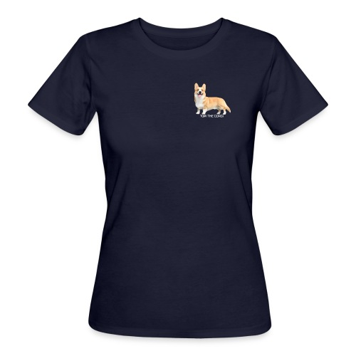 Topi the Corgi - White text - Women's Organic T-Shirt