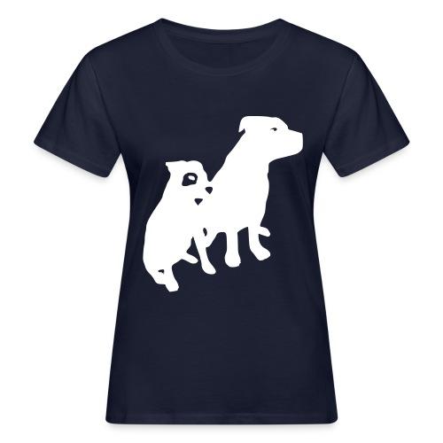 Doggy / zwei brave Hunde zum verschenken - Frauen Bio-T-Shirt