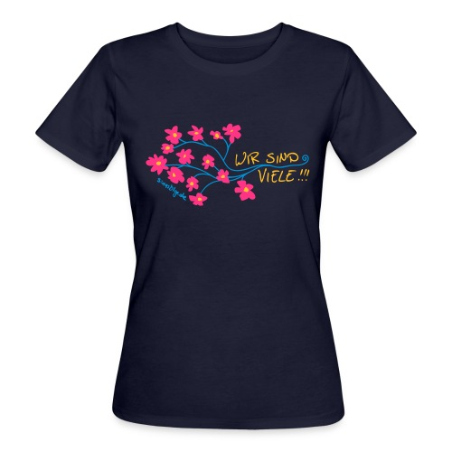 Blumen_01a - Frauen Bio-T-Shirt