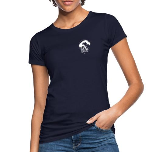 Sea of red logo - white small - Women's Organic T-Shirt