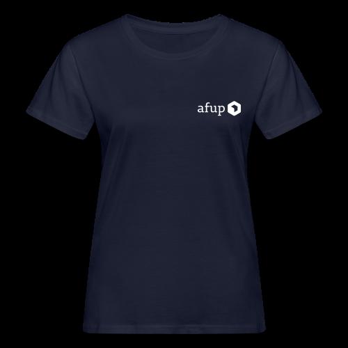 Logo AFUP Blanc - T-shirt bio Femme