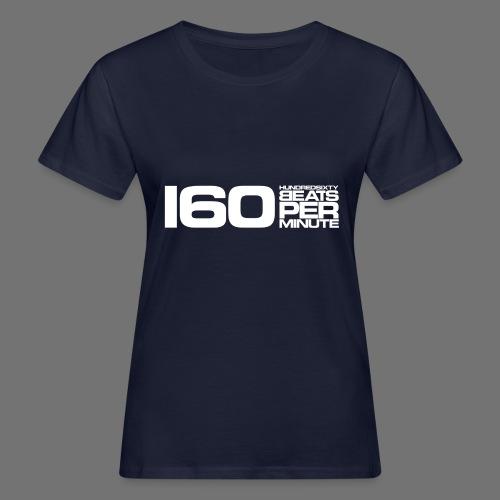 160 BPM (valkoinen pitkä) - Naisten luonnonmukainen t-paita