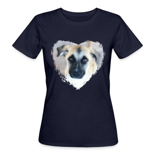 Ciqala - Ein Herz für Streuner - Frauen Bio-T-Shirt