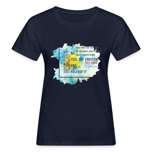 Erica Romeo beyond_the_nettles_burn_flower - T-shirt ecologica da donna