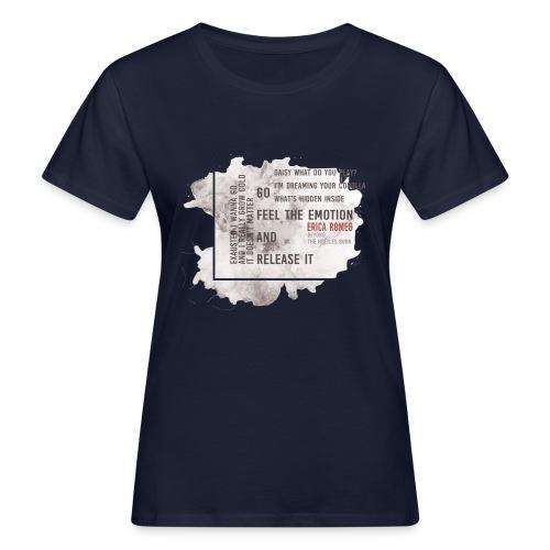 Erica Romeo_beyond_the_nettles_burn_-_flower_b&n - T-shirt ecologica da donna
