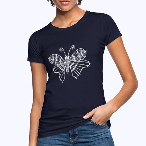 Schmetterling weiss - Frauen Bio-T-Shirt