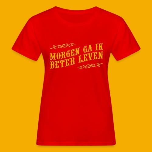 tshirt yllw 01 - Vrouwen Bio-T-shirt