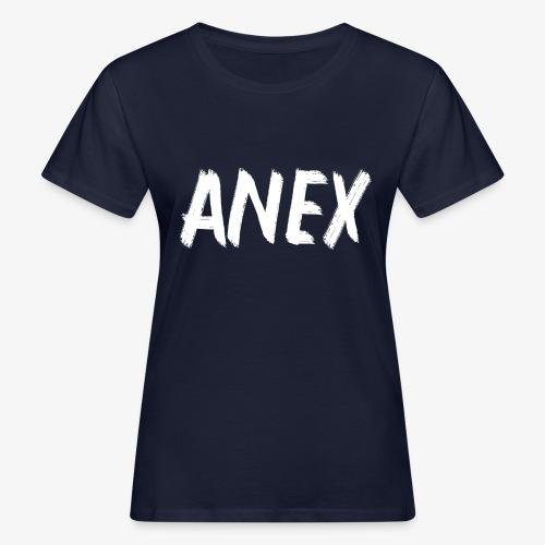 V-neck T-Shirt Anex white logo - Women's Organic T-Shirt