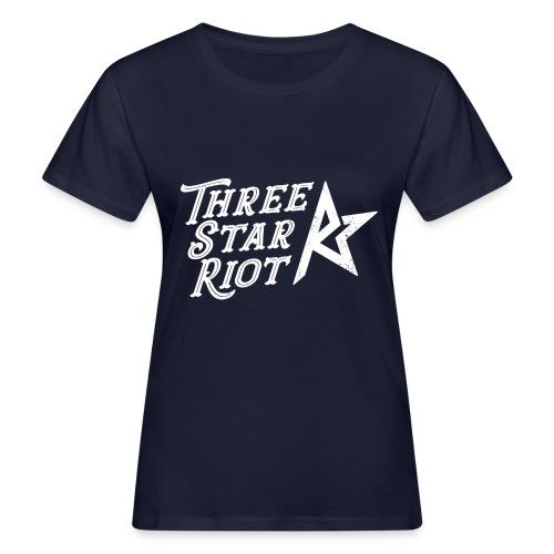 Three Star Riot logo vaalea - Naisten luonnonmukainen t-paita