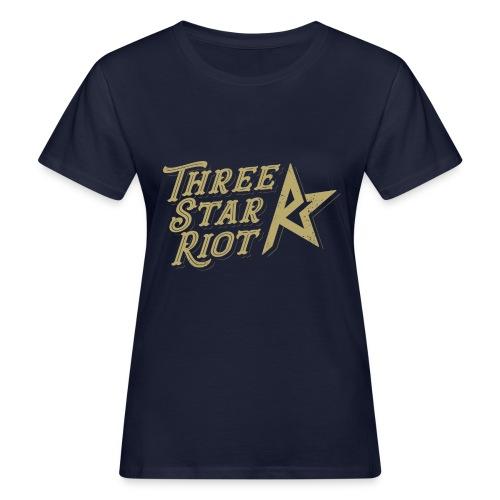 Three Star Riot logo väri - Naisten luonnonmukainen t-paita