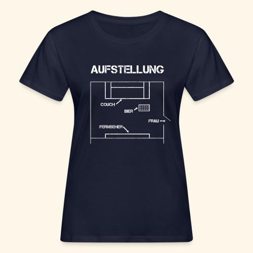 Fussball Aufstellung Weltmeisterschaft Geschenk - Frauen Bio-T-Shirt