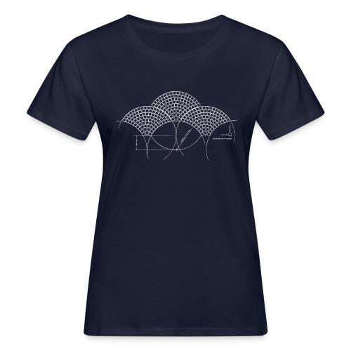 European Fan White - Vrouwen Bio-T-shirt