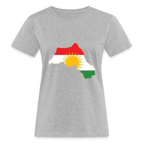 Kurdistan Flag Map - Frauen Bio-T-Shirt