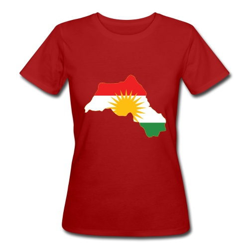 Kurdistan Flag Map - Frauen Bio-T-Shirt